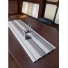 China Sandstone Color Assembled UPVC Slat Wall Panels For Storage 2.44m * 11cm * 2cm wholesale