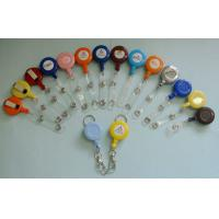 China Different Color Plastic Badge Holder , Lanyard Pouch Holder With Metal Clip  wholesale