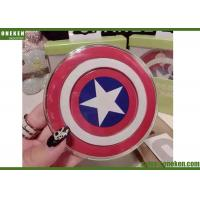 China QI 2A Fast Charge Wireless Charger Captain America Design For Iphone Samsung wholesale