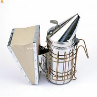 China beekeeping supplies stainless steel leather bee smoker drive bees on sale