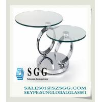 China high quality oval-shaped glass dining table wholesale