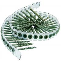 China Collated Plastic Strip Bugle Head Drywall Screws To Wood Gray Phosphate #  6 X 1-1/4  wholesale