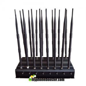 China 16 Antennas 38W High Power GPS Signal Jammer Blocker Jam 2G 3G 4G Wimax UHF VHF Lojack Wi-Fi GPS 315 433 868 Signals wholesale