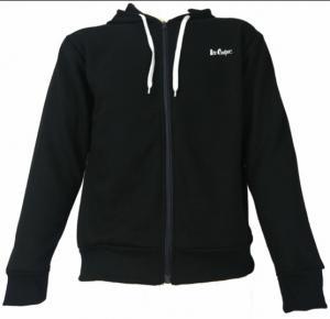 China Hooded Black Mens Fleece Coat Padded Windproof Heat Retention S-2XL on sale