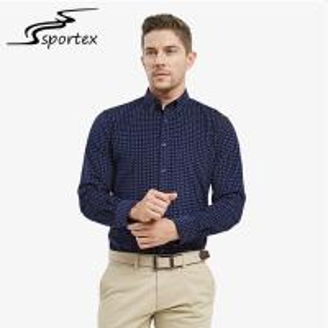China Autumn Winter Slim Fit Long Sleeve Shirt , Mens Slim Fit Shirts Anti Pilling wholesale