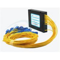China Yellow Optical Fiber 1*16 PLC Splitter With SC / UPC Connector For Data Communication wholesale
