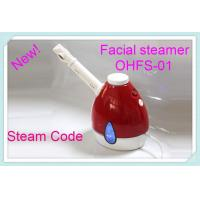China Portable handheld Skin Care Facial Steamer Red For Removal Deep Dirt wholesale
