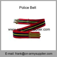 Wholesale Cheap China Military Red Kenya Army Cotton Leather Buckle Police Belt