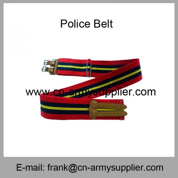 Quality Wholesale Cheap China Military Red Kenya Army Cotton Leather Buckle Police Belt for sale
