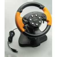 China Wired USB Vibration PC Gaming Steering Wheel With CD-ROM Driver wholesale