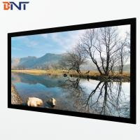 China 150 inch 16:9 format wall  mount projection screen with frame corner 45 degree design BETFS9-150 wholesale