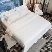 China Wholesale Bed Sheets 100% Cotton White Designed Bedding Sheets used for hotel hospital on sale
