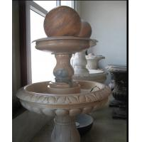 Red Marble Rolling Ball Fountain