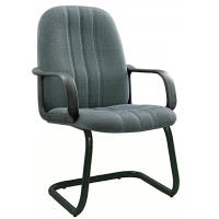 China Non Rolling Gey Fabric Office Chairs For Meeting Room Tube 1.0 Foot wholesale