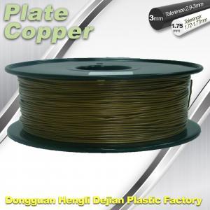 Buy cheap 1.75 Mm 3D Printer Metal Filament Aluminum Copper Bronze Red Copper Brass from wholesalers