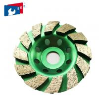 China 180mm Diamond Cup Wheel with Alloy Body for Marble Concrete Granite wholesale