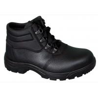 Lace-up Embossed leather  industrial safety shoes price Ankle boots