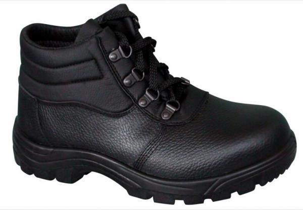 Quality Lace-up Embossed leather  industrial safety shoes price Ankle boots for sale
