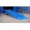 China Rampa ajustable hidráulica gigante azul DCQY20-0.5 del embarcadero de los niveladores de muelle wholesale