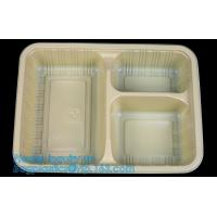 China Compartments food grade blister plastic frozen and microwave dumpling tray,Packing Tray Disposable Food Plastic Package on sale