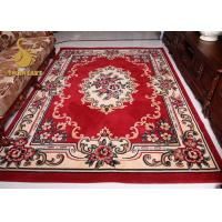 China Comfortable Persian Hand Knotted Rugs , Red And Blue Persian Rug Wear Resistant on sale