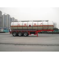 China Aether Gas Diesel Liquid Tank Truck with 3 BPW Axles , 42500L SUS on sale