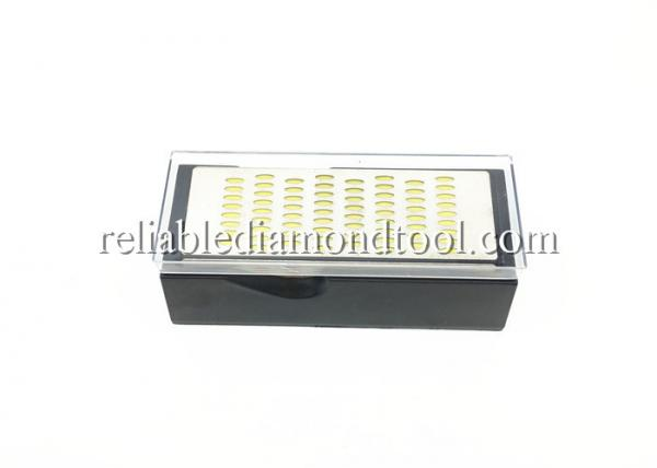 Quality 4 Side Colorful Diamond Sharpener 200 / 600 Grit Waterstone With Plastic Case for sale