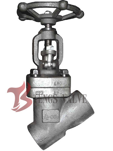 Quality Forged Steel Y Pattern Globe Valve 1.5 Inch LF2 800LB SW - NPT Ends for sale