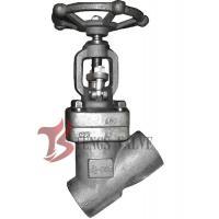 China Forged Steel Y Pattern Globe Valve 1.5 Inch LF2 800LB SW - NPT Ends wholesale