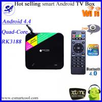 China Quad-Core Android 4.4 RK3188 HD media player, Android Smart TV Box on sale