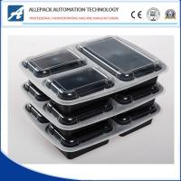 China Microwavable Takeaway Disposable Plastic 3 Compartment Food Containers With Lids on sale
