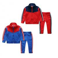 China Autumn Baby Boy Tracksuit Set , Little Kids Sports Tracksuits Running Wear on sale