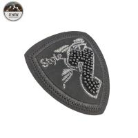 China Beads 3D Sew On Embroidered Patches Number / Letter Design For Clothing wholesale
