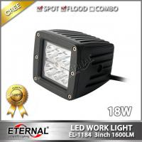 China 18W led work light 3x3 cube pod led lamp for 4x4 off road Wrangler 4WD truck motorcycle fog lamp back up driving light wholesale
