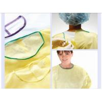 PP nonwoven medical gowns , green disposable isolation surgical gown for hospital