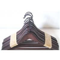 China Stocklot Packed 8Pcs Cloth Wood Hangers on sale