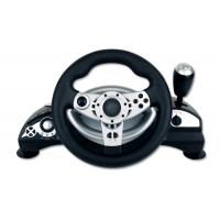 China Dual Shock Wired Large PC Game Racing Wheel With Adjustable Sensitivity wholesale