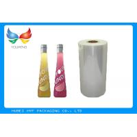 China 40mic Transparent 53% Blown Shrink PVC Labels Film For Beverage Sleeve Labels wholesale