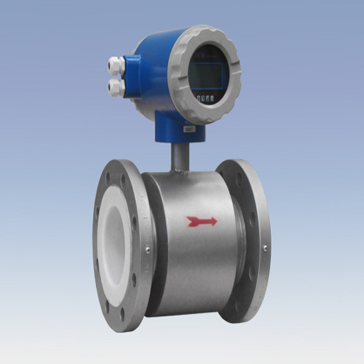 Quality integrate type electromagnetic flow meter with PTFE lining flanged connection for sale
