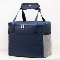 China Double Zipper Polyester 22CM Depth Insulated Lunch Cooler Bags wholesale