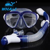 China Ultra Low Volume Silicone Diving Snorkel Set Foldable Buckles With PC Mask Frame wholesale