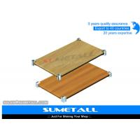 China Simple Structure Metro Wire Shelving With Wood Storage Shelving Units Adjustable Feets wholesale
