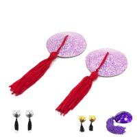 Female Toys Tassels Nipple Covers / Breast Pads Round Shaped , Sex Bondage Toys