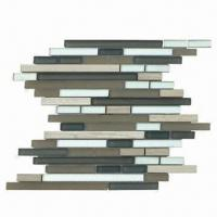 China Crystal Glass Mosaics Mix Stone, Decorates a Background Wall with Soft, Bright and Splendid Colors on sale