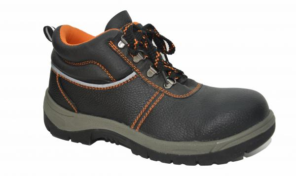 Quality Comfortable Steel Toe Work Shoes , Genuine Leather Work Shoes Anti Shock for sale