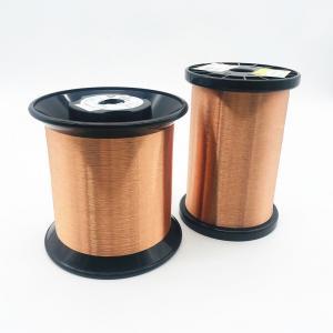 China 44 Awg 3uew155 0.05mm Polyurethane Coating Enamelled Round Copper Wire Super Thin wholesale