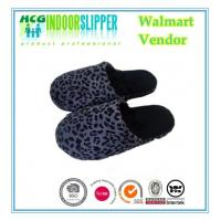 China Lady size high quality Jiangsu Yangzhou factory supplier  leopard boa material indoor slippers wholesale