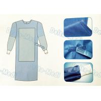 China Tie On Disposable Sterile Gowns , Disposable Operating Gowns Wood Pulp Spunlace Fabric on sale