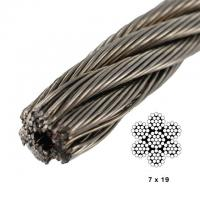 China 7 X19 Aircraft Cable 500 Ft Break Strength 4200lb Carbon Steel Vinyl Coated wholesale