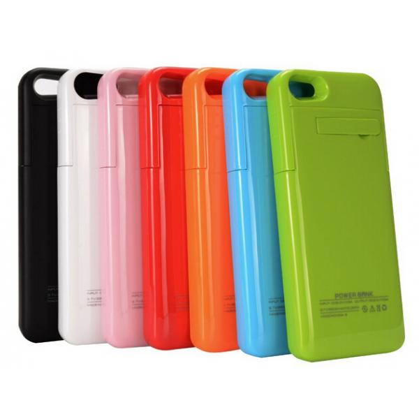 Quality 2200mAh Portable External Power Case for iPhone 5/5S with Kickstand Pink Power Bank for iPhone External Battery Case for sale